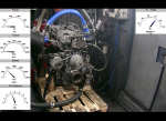 Recondition of engine Isuzu 4HK1 engine